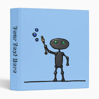 Bubble Bot Personalized Binder