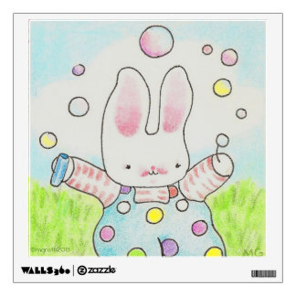 Bubble Bunny wall decal