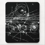 "Bubble Chamber Mouse Pad<br><div class=""desc"">Paths of subatomic particles... </div>"