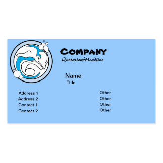 Bubble Dolphin Logo Business Card Templates