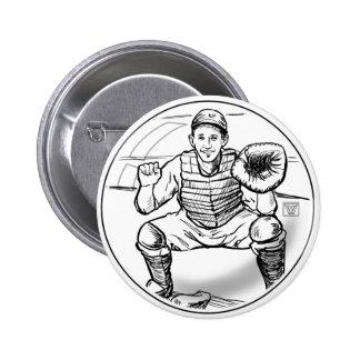Bubble Dreams Baseball Player Art Pinback Button