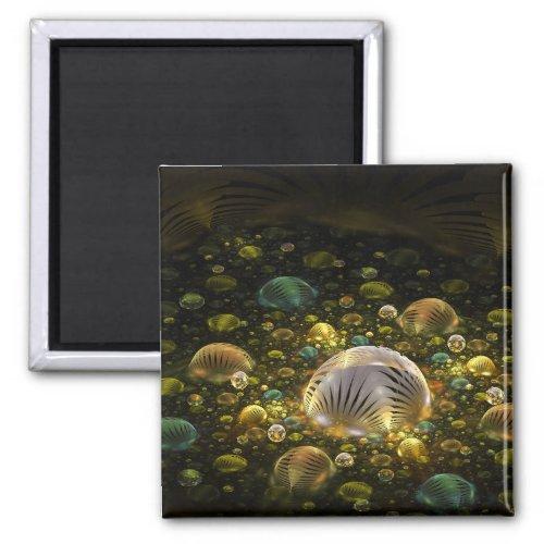 Bubble factory 3d _ fractal impression magnet