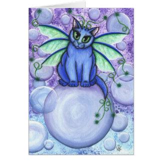 Bubble Fairy Cat Fantasy Art Card