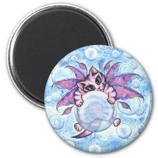 Bubble Fairy Kitten Cat Fantasy Art Magnet
