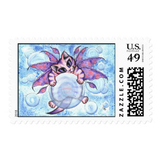 Bubble Fairy Kitten Cat Postage