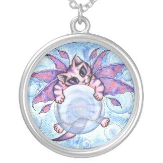 Bubble Fairy Kitten Fantasy Cat Art Necklace