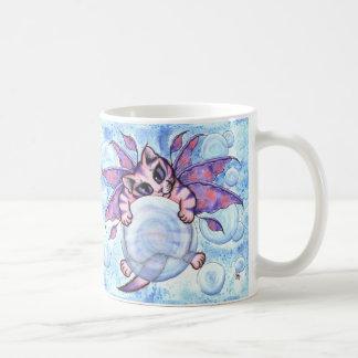 Bubble Fairy Kitten Fantasy Winged Cat Art Mug