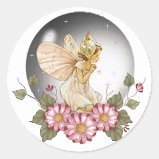 Bubble Fairy Round Stickers