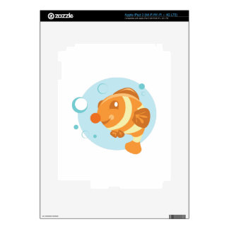 Bubble Fish Decals For iPad 3