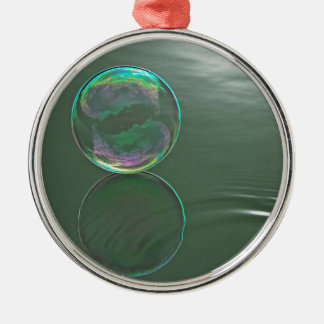 Bubble floating on water metal ornament
