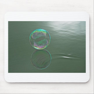 Bubble floating on water mouse pad