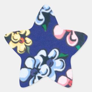 bubble flowers star sticker