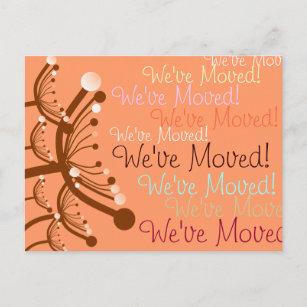 Bubble Flowers We Ve Moved Announcement Postcard