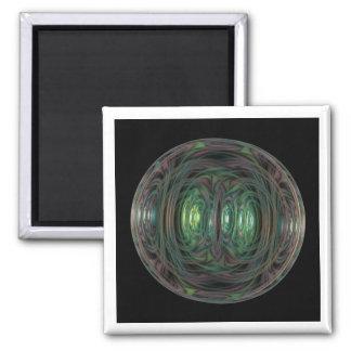 bubble fractal 2 inch square magnet
