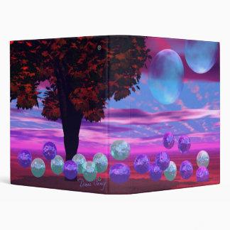 Bubble Garden - Rose and Azure Wisdom Vinyl Binder