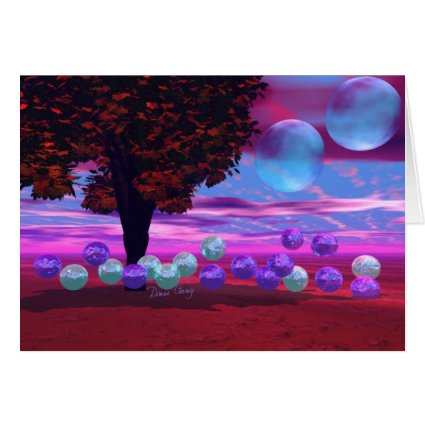 Bubble Garden - Rose and Azure Wisdom Greeting Cards