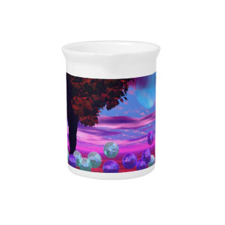 Bubble Garden - Rose and Azure Wisdom Drink Pitcher
