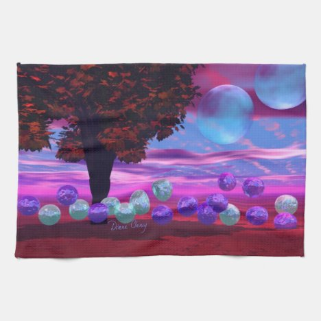 Bubble Garden - Rose and Azure Wisdom Hand Towel