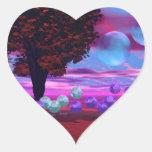 Bubble Garden - Rose and Azure Wisdom Heart Sticker