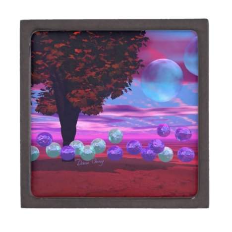 Bubble Garden - Rose and Azure Wisdom Jewelry Box