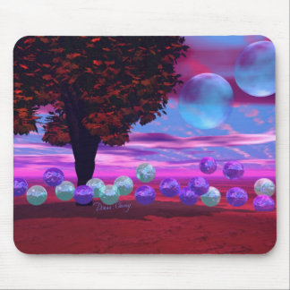 Bubble Garden - Rose and Azure Wisdom Mouse Pad