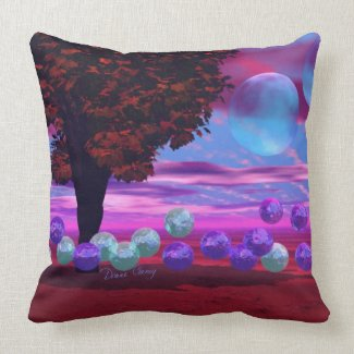 Bubble Garden - Rose and Azure Wisdom Pillow