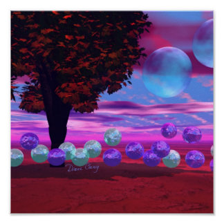 Bubble Garden - Rose and Azure Wisdom Posters