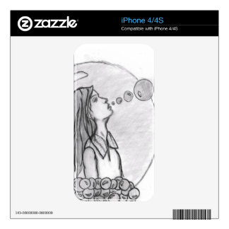 Bubble girl Phone case iPhone 4S Decal