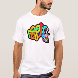 BUBBLE GRAFFITI SPRAY CAN SUBWAY ART THROW UP T-Shirt