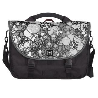 Bubble Gray Polka Dots Laptop Bag