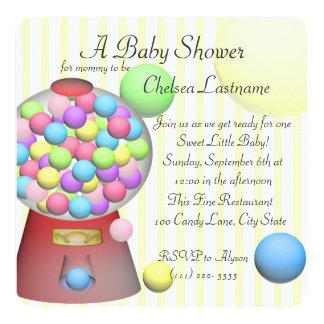 Bubble gum Baby Shower Invitation
