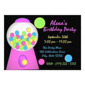 Bubble Gum Birthday Custom Invitation