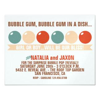 BUBBLE GUM BUBBLE GUM GENDER REVEAL INVITATION