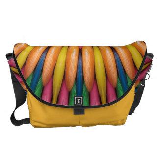 Bubble Gum Digital Art Messenger Bag