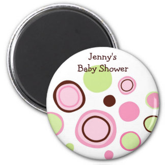 Bubble Gum Dots Baby Shower Favor Magnets
