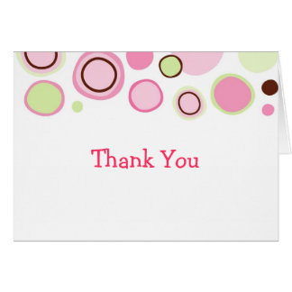 Bubble Gum Dots Birthday Thank You Note Cards