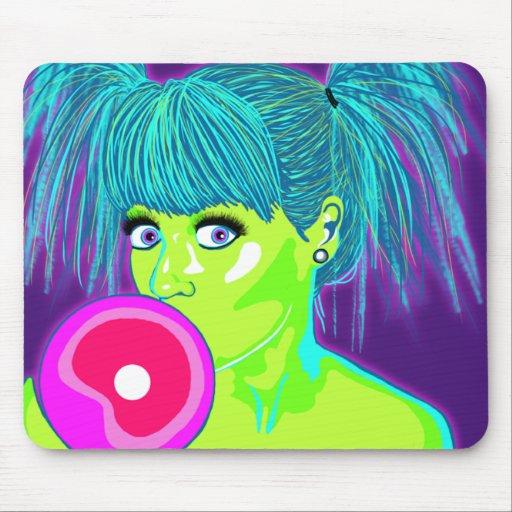Bubble Gum Girl Mouse Pad