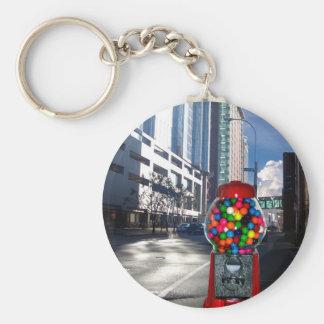 Bubble Gum Basic Round Button Keychain