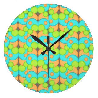 Bubble Gum Large Clock