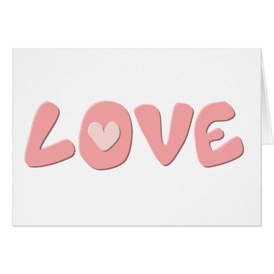 Bubble Gum LOVE card