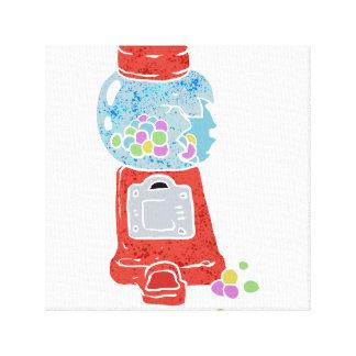Bubble gum machine. canvas print