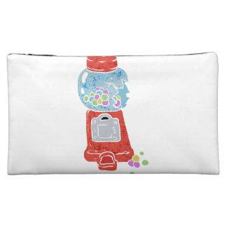 Bubble gum machine. cosmetic bag