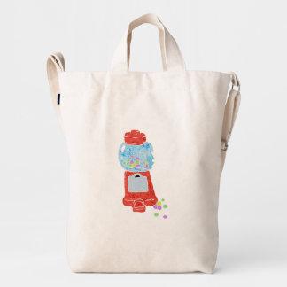 Bubble gum machine. duck bag