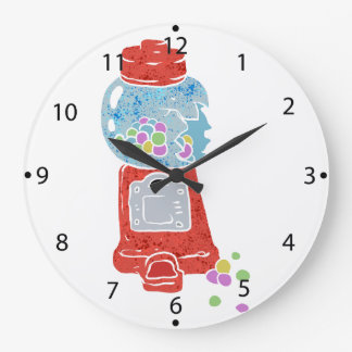 Bubble gum machine. large clock