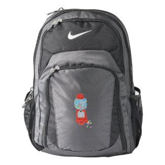 Bubble gum machine. nike backpack