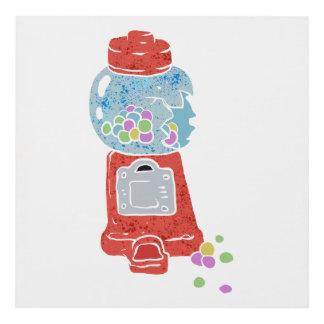 Bubble gum machine. panel wall art