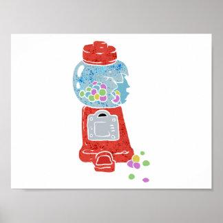 Bubble gum machine. poster