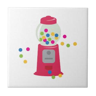 Bubble Gum Machine Small Square Tile
