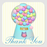 Bubble Gum Machine Thank You Stickers