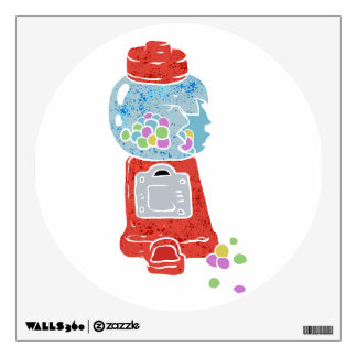 Bubble gum machine. wall decal